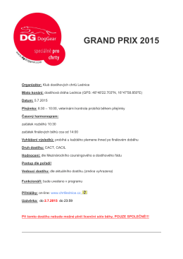 GRAND PRIX 2015 - Klub chovatelů dostihových chrtů Lednice