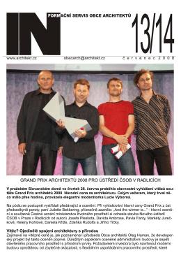 grand prix architektů 2008 pro ústředí čsob v radlicích
