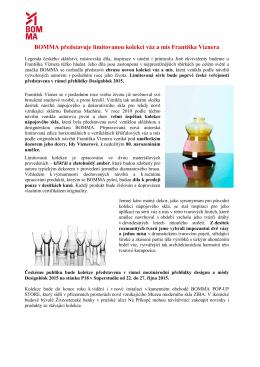 BOMMA představuje limitovanou kolekci váz a mís Františka Víznera