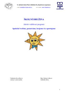 školní družina - 14. základní škola Plzeň