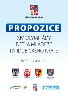 propozice xiv. olympiády dětí a mládeže pardubického kraje