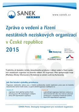Zpráva o vedení a řízení nestátních neziskových organizací v České