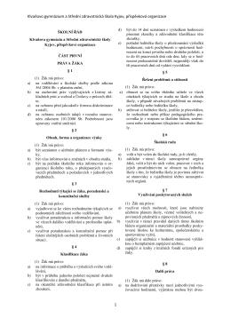Školní řád - Klvaňovo gymnázium a Střední zdravotnická škola Kyjov