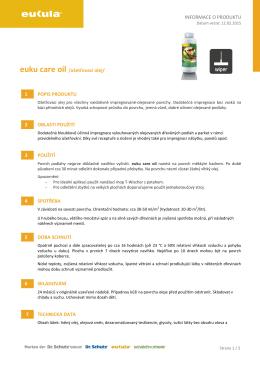 INFORMACE O PRODUKTU euku care oil /ošetřovací olej