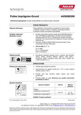 Katalogový list s technickými údaji