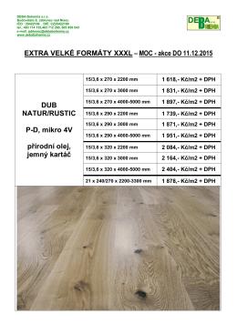 dřevo - formáty XXXL - MOC 2015