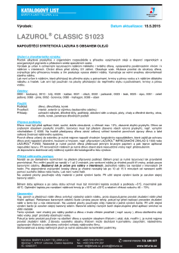 LAZUROL® CLASSIC S1023
