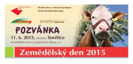 POZVÁNKA - Zemědělství žije