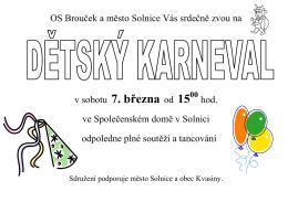 Dětský karneval . pdf - Občanské sdružení Brouček