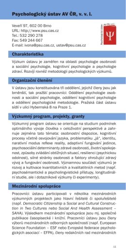 Psychologický ústav AV ČR, v. v. i.