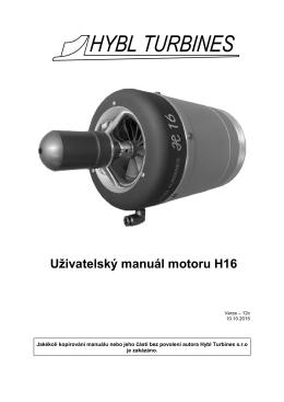 Uživatelský manuál motoru H16