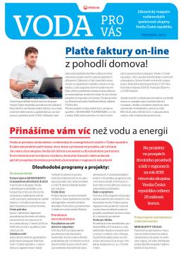 2015 zakaznicky casopis - Pražské vodovody a kanalizace, as