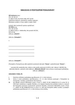 smlouva o postoupení pohledávky