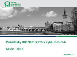 Seminar CSJ Cyklus PDCA a ISO 9001:2015
