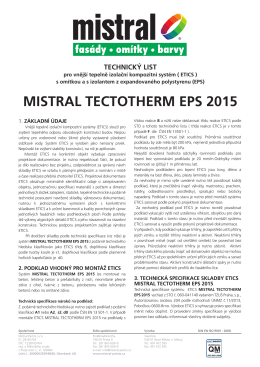 MISTRAL TECTOTHERM EPS 2015