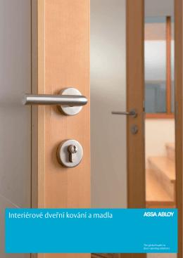 Katalog Interiérové dveřní kování a madla