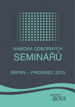 Semináře podzim 2015