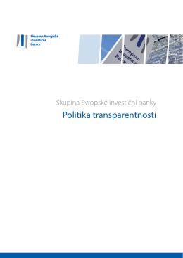Politika transparentnosti skupiny EIB