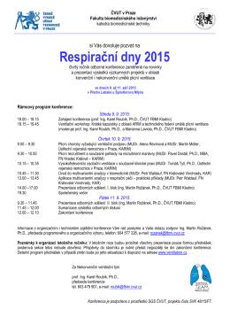 Respirační dny 2015