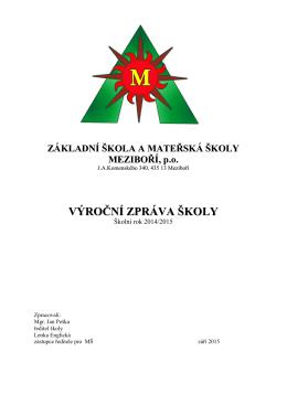 Výroční zpráva školy za rok 2014 / 2015
