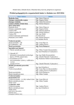 dokument zde - Střední škola, Základní škola a Mateřská škola