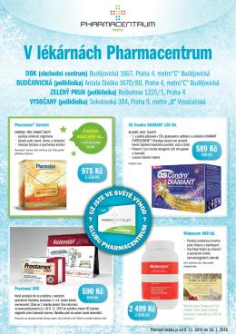 V lékárnách Pharmacentrum - Lékárna Pharmacentrum Budějovická