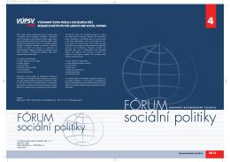 č. 4 - Výzkumný ústav práce a sociálních věcí