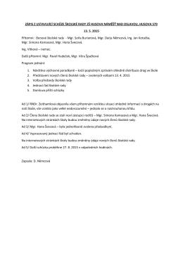Zápis z jednání školské rady