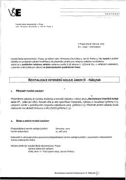REVITALIZACE INTERIÉRŮ KOLEJE JAROV II - Nábytek - E