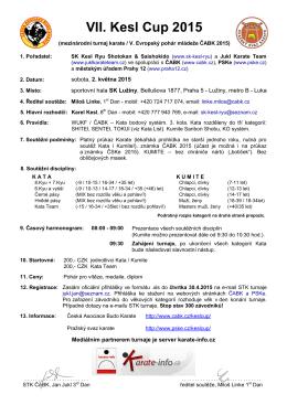 Informace - Česká Asociace Budo Karate