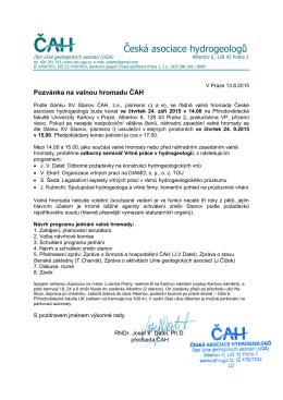 Pozvánka VH 2015