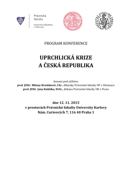 uprchlická krize a česká republika - Právnická fakulta