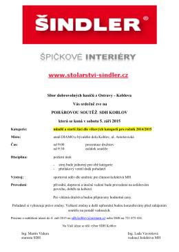 Sbor dobrovolných hasičů z Ostravy - Koblova Vás