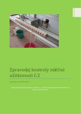 Zpravodaj kontroly mléčné užitkovosti č.2