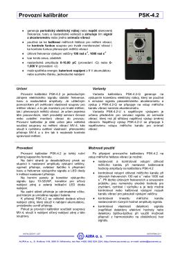 Provozní kalibrátor PSK-4.2