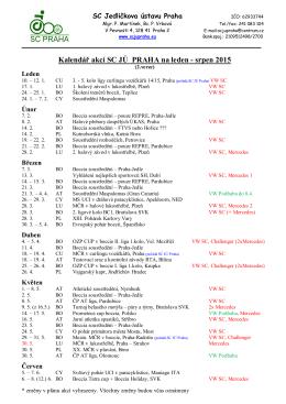 Kalendář akcí SC 2015 2.verze
