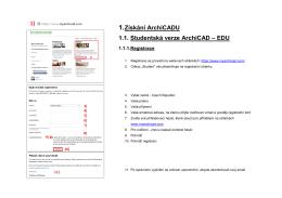 1. Získání ArchiCADU 1.1. Studentská verze ArchiCAD – EDU