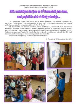 Projekt Na skok do školy pokračuje