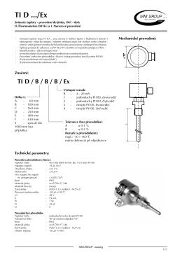 TI D...Ex - jiskrově bezpečný snímač teploty - důlní