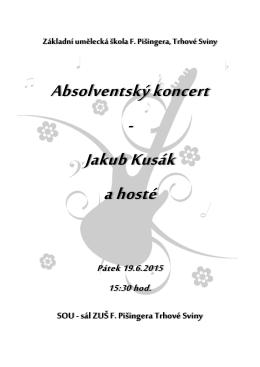 Absolventský koncert - Jakub Kusák a hosté