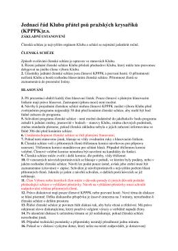 Jednací řád - Klub přátel psů pražských krysaříků