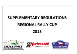 Zvláštní ustanovení RR-Cup