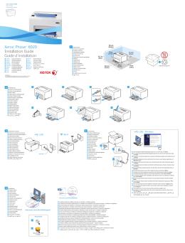 Xerox Phaser 6020BI instalační příručka
