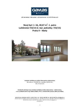 Dražební vyhláška - Luštěnická 723, byt č.15