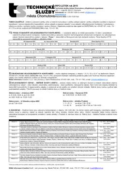 Celkový Infoleták TSMCH pro rok 2015