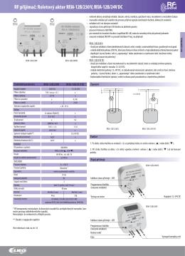 RF přijímač: Roletový aktor RFJA-12B/230 V
