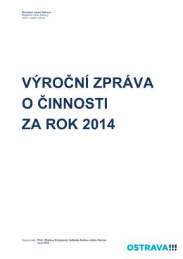 Zpráva o činnosti 2014 - Archiv města Ostravy