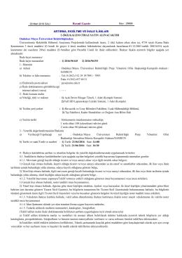 Resmî Gazete - Ondokuz Mayıs Üniversitesi
