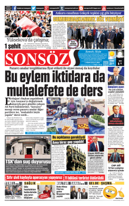 1 şeh t - Sonsöz Gazetesi