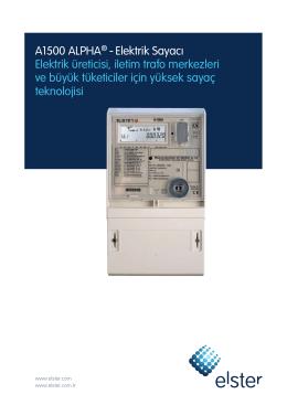 elster a1500 alpha elektrik sayacı ürün broşürü